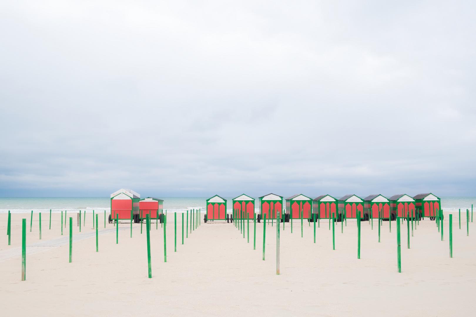 Strandhäuser in Belgien