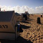 Strandkörbe am Strand von Westerland / Sylt