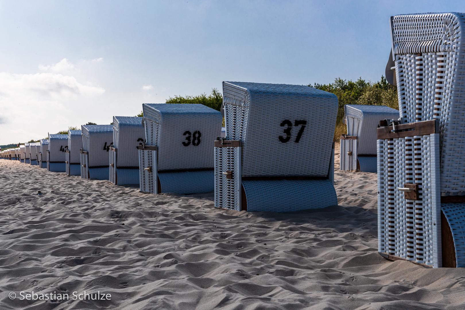 Strandkörbe am Strand Zinnowitz