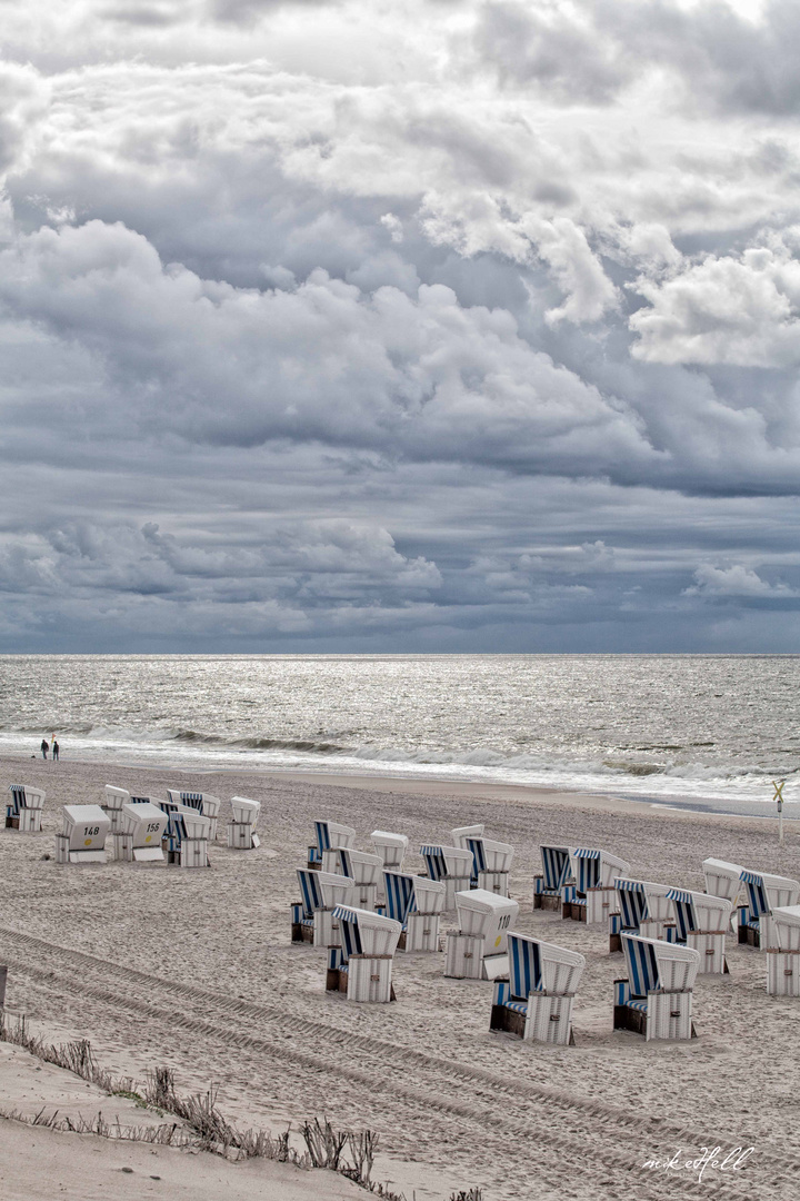 Strandkörbe im Herbst