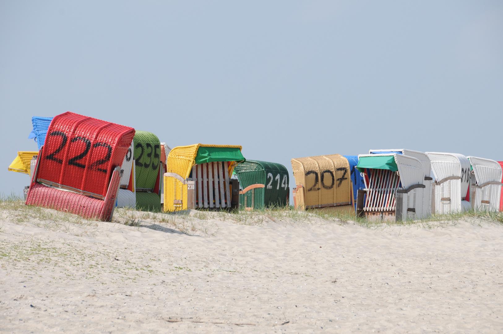 Strandkörbe in Hooksiel