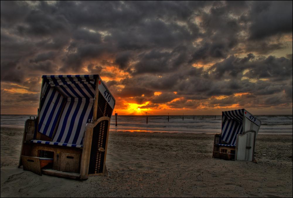 Strandkorb sonnenuntergang  Strandkorb Foto & Bild | landschaft, meer & strand, natur Bilder auf ...