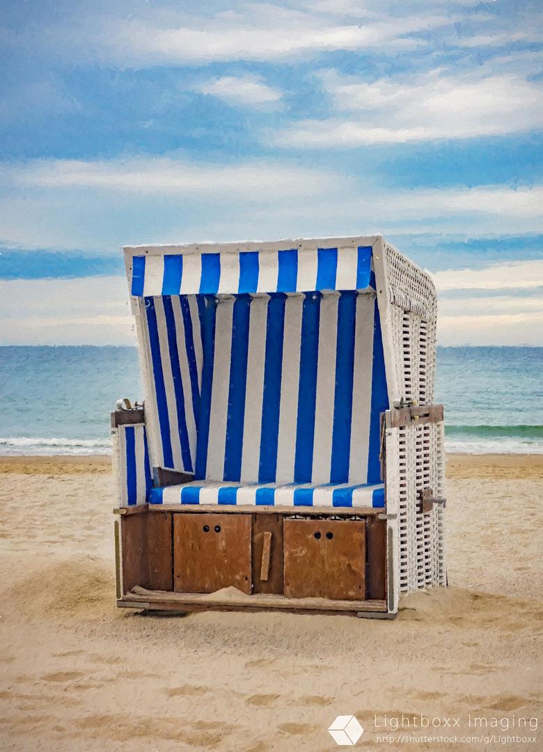 Strandkorb gemalt  Strandkorb auf Sylt Foto & Bild | bearbeitungs - techniken, digitale ...