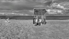 Strandkorb geschlossen