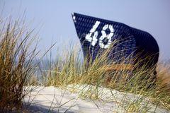Strandkorb in den Dünen von Borkum