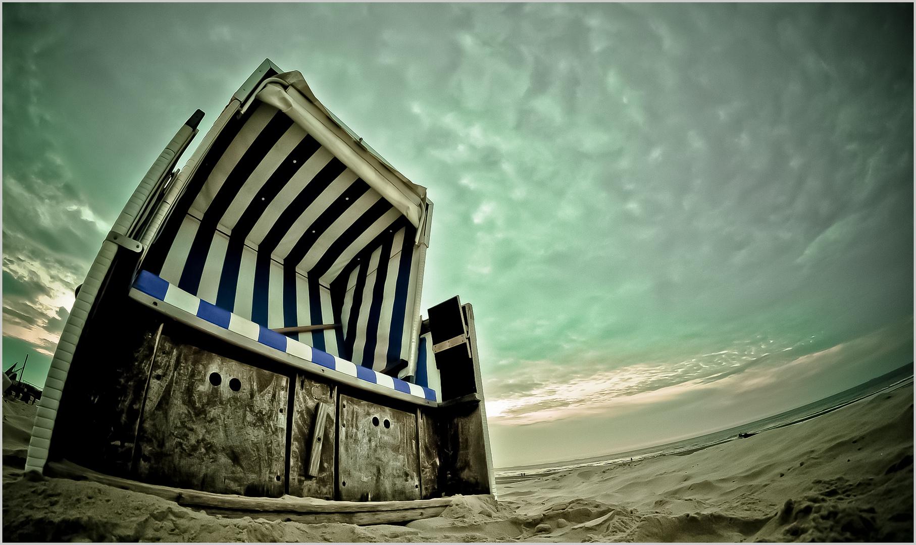 Strandkorb von unten
