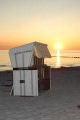 Strandkorb zum Abend