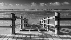 Strandkorbrampe Nachsaison St. Peter-Ording