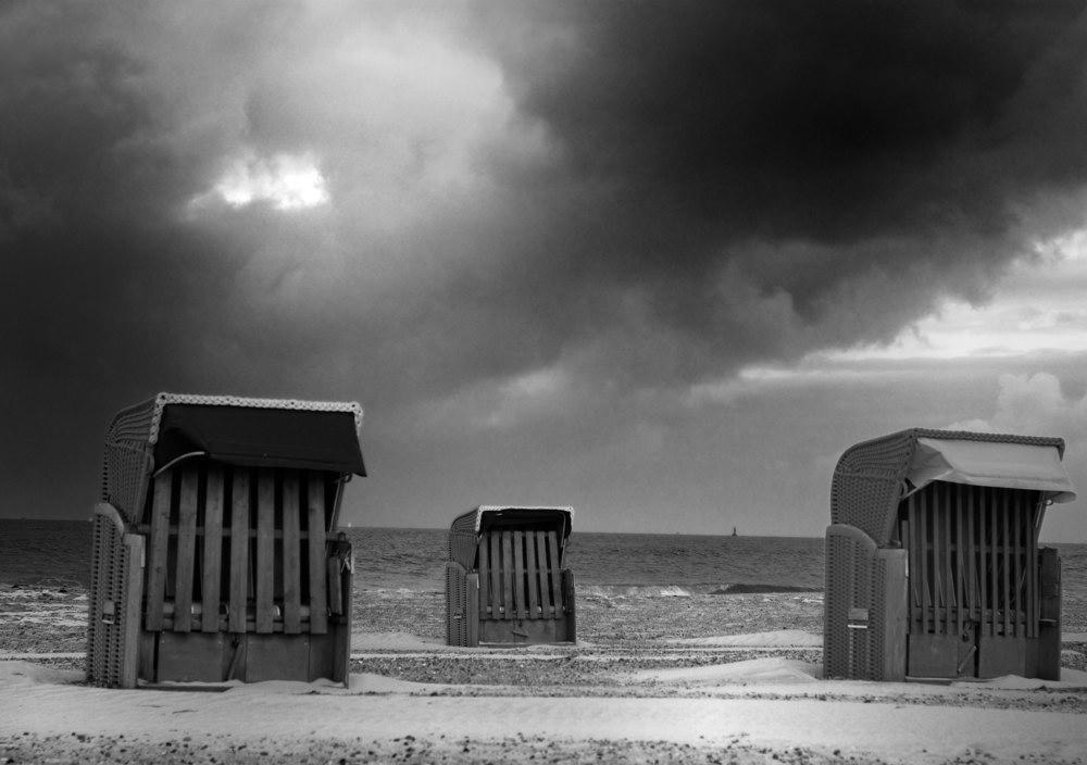 Strandkorbwetter [s/w]