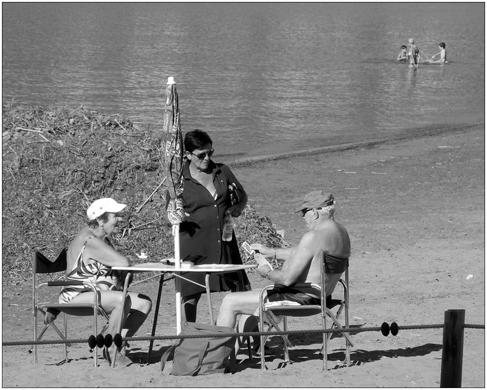Strandleben – drei plus drei
