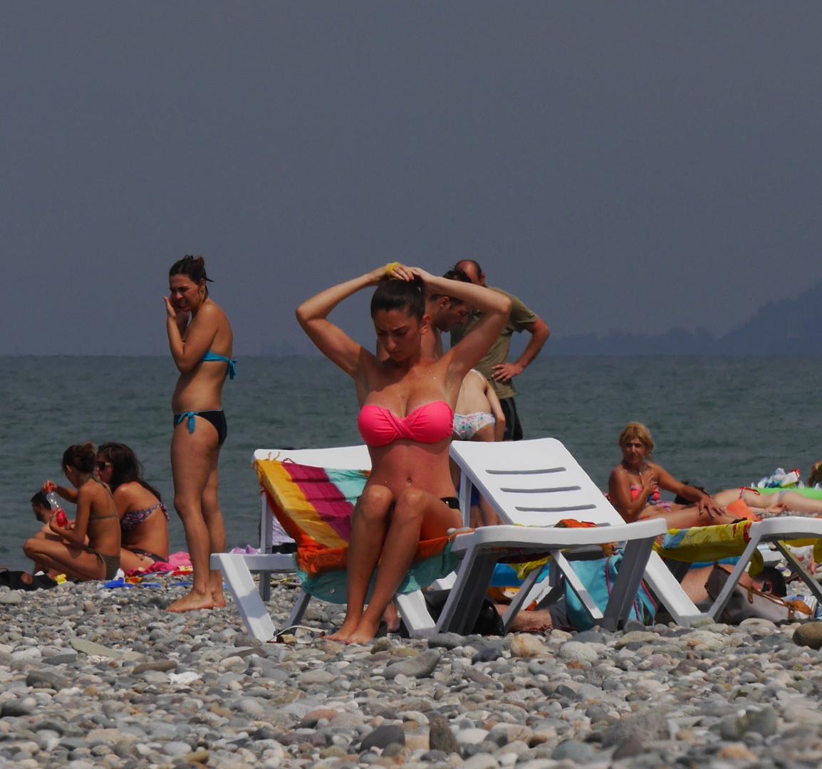 Strandleben in Batumi, georgien