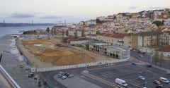 Strandpromenade in Lissabon ....