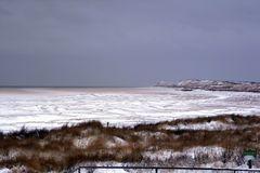 strandsauna im schnee