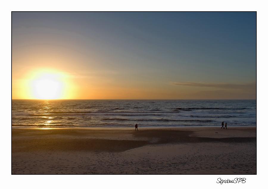 Strandspaziergang bei Sonnenuntergang....