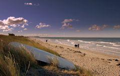 Strandspaziergang im Oktober au Hiddensee