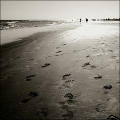 Strandwandern - hin und zurück