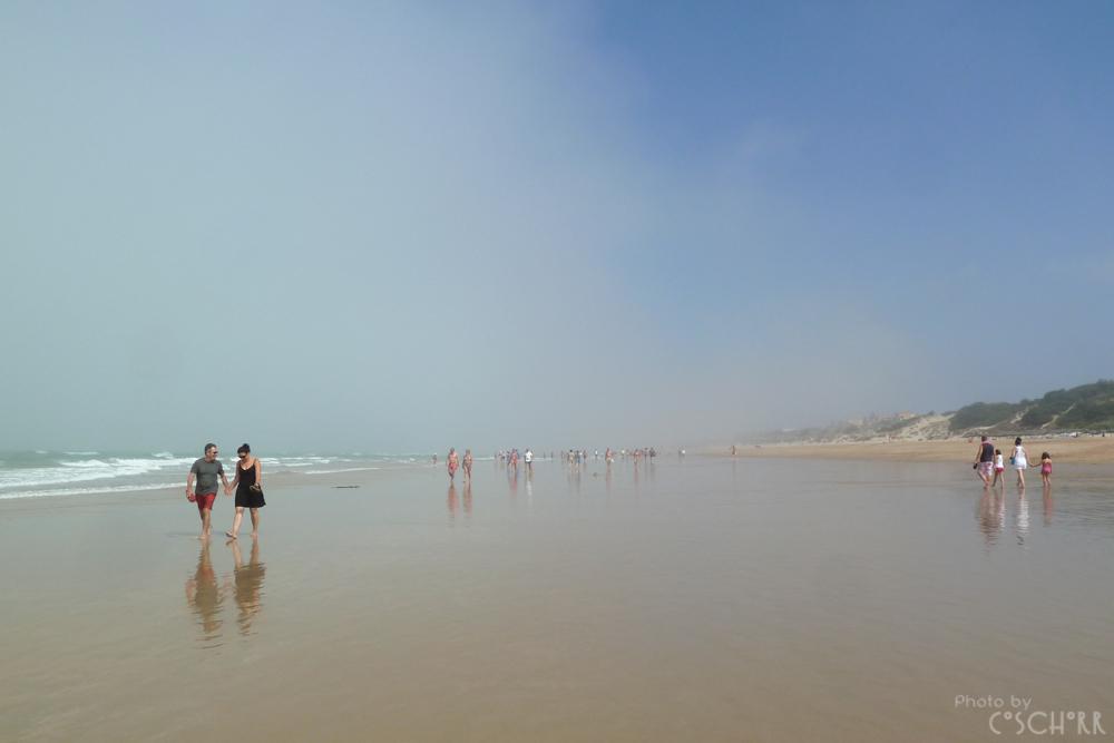 Strandwandern ohne Azur