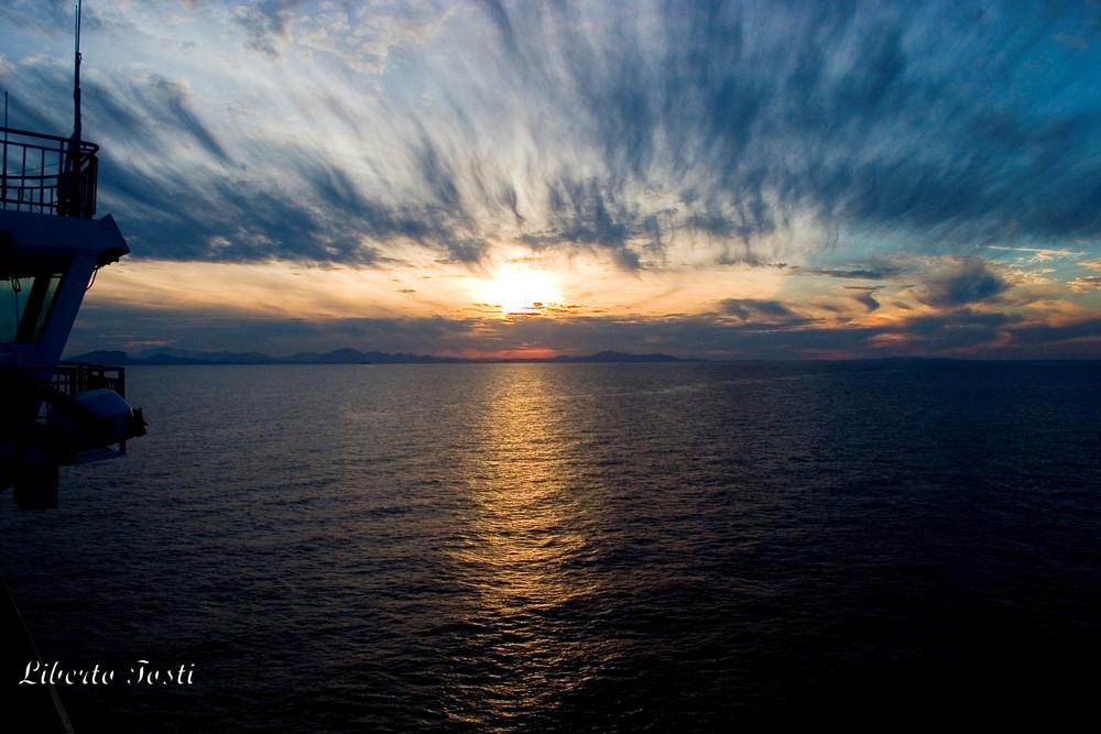 Strane nubi all'arrivo in Sardegna