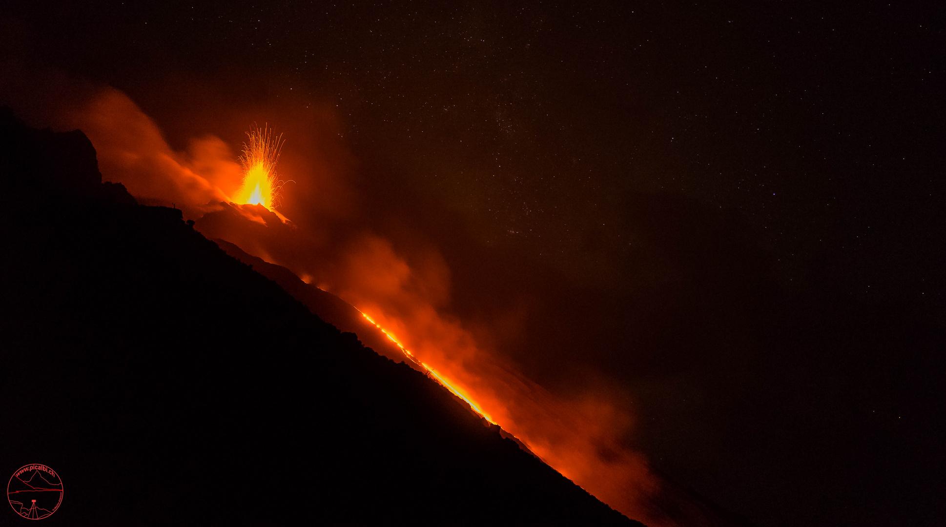 Strasse aus Lava