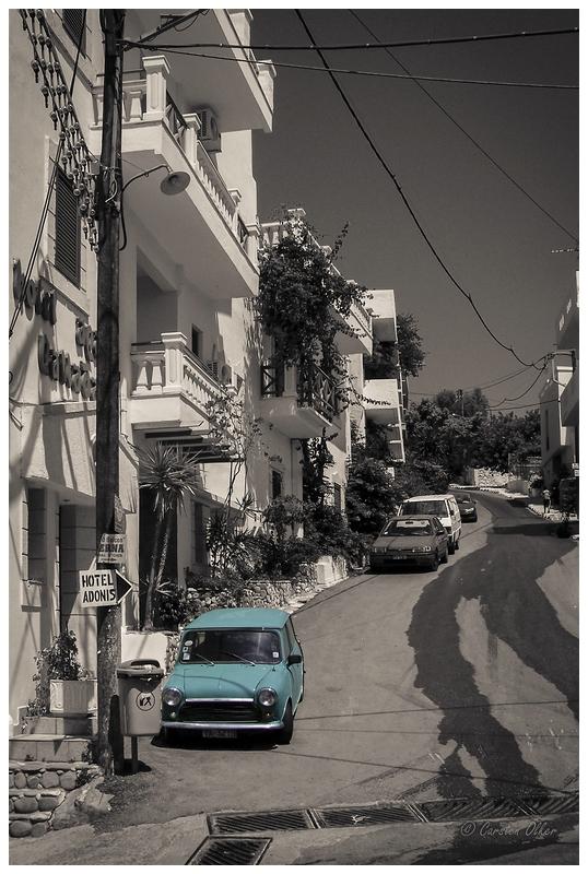 Straße in Ag. Galini (Kreta)