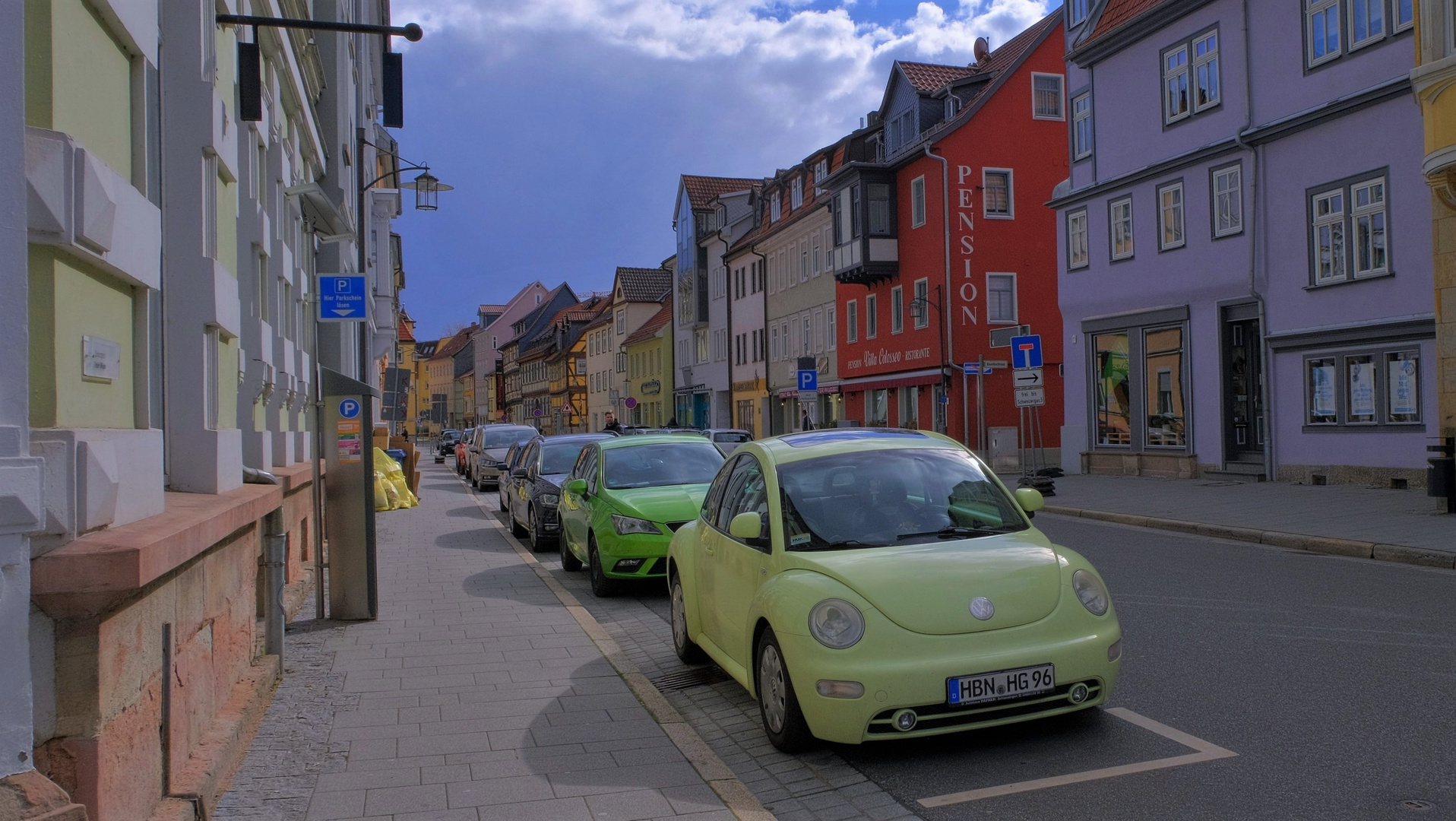 Straße in Meiningen (calle en Meiningen)