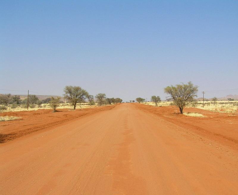 Straße nach Aus