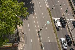Straße von oben