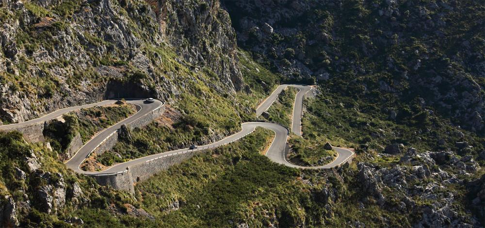 Strasse zum Torrent de Parais auf Mallorca