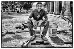 Straßenarbeiter in Havanna