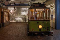 Straßenbahn-Oldtimer von 1916
