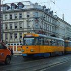 Straßenbahn-Stau