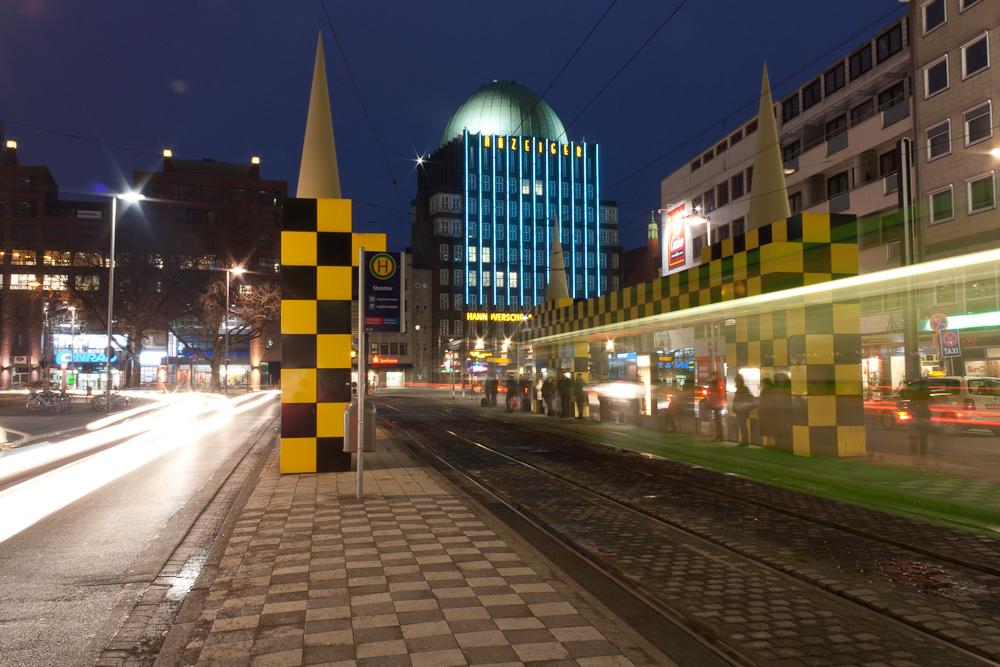 Straßenbahn verpasst