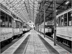 Straßenbahndepot - Halle links, Gleis 1-6