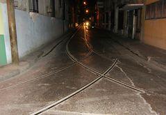 Straßenbahnrest in Santiago