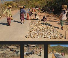 Strassenbau in Burma