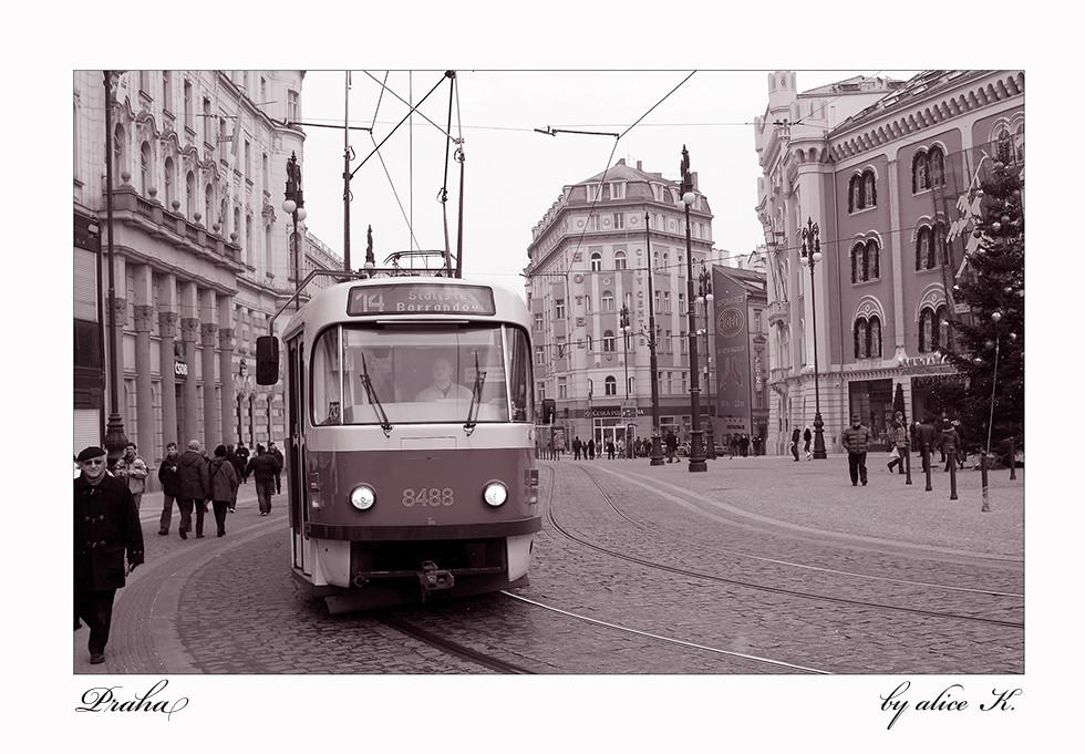 Straßeneinblicke in Prag