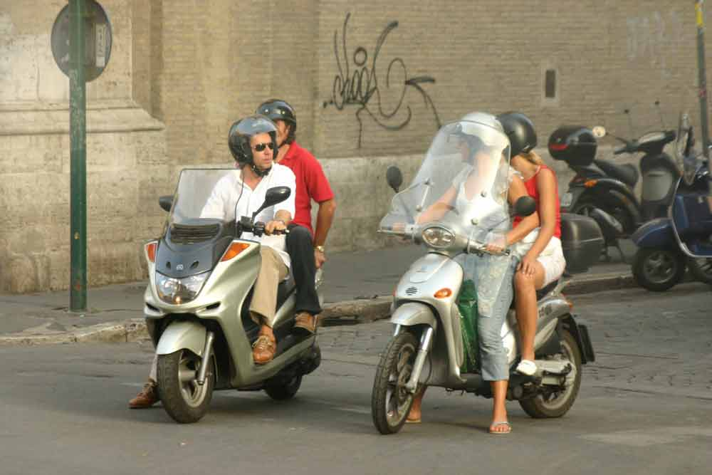 Strassenflirt in Rom