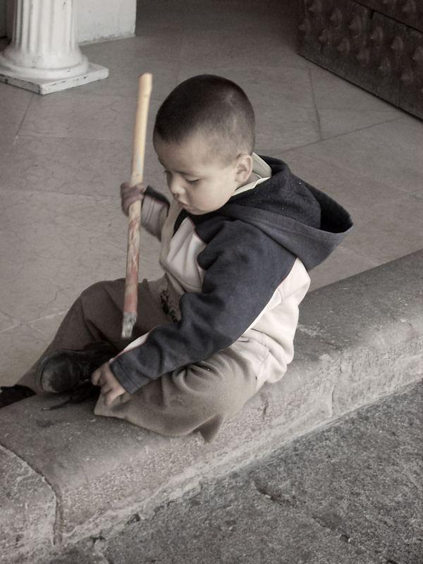 Straßenkind in Mexiko