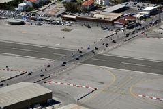 Straßenkreuzung in Gibraltar