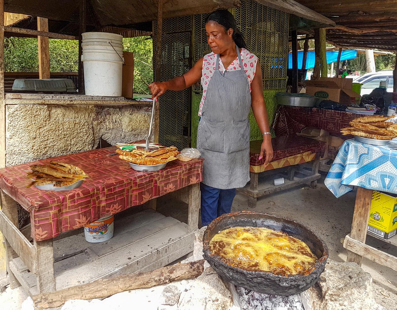 Straßenküche auf Jamaika