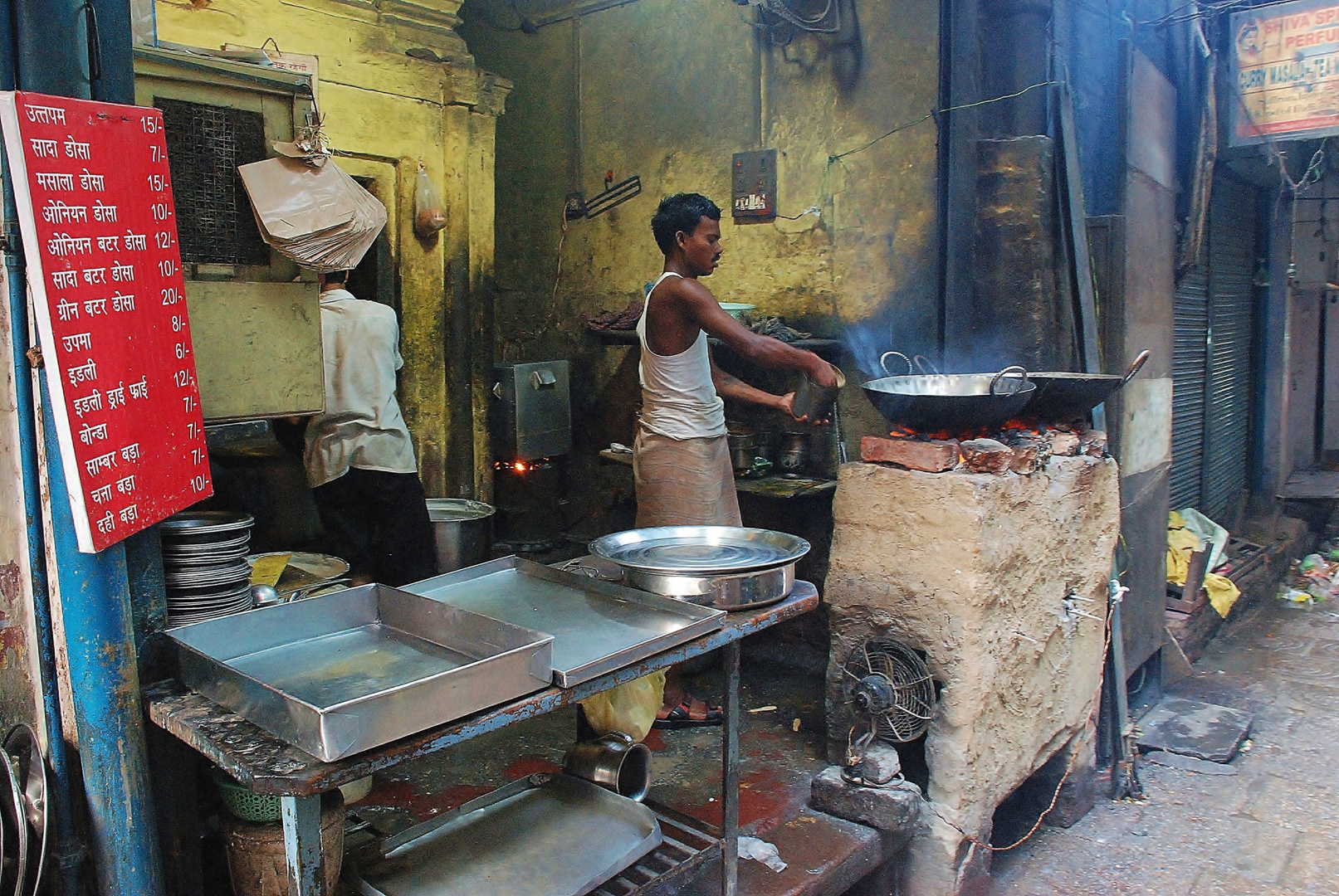 Strassenküche in Varanasi