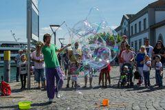 Straßenkünstler in Konstanz