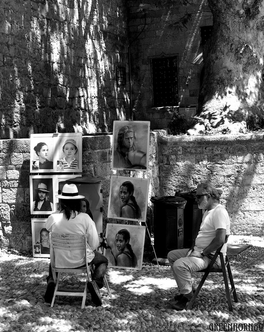 Straßenkünstler in Rhodos-Stadt