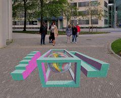 Straßenkunst in Leeuwarden