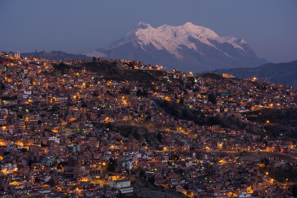 Straßenlampen in La Paz