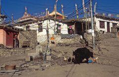 Straßenleben in Muktinath