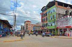 Straßenleben in Puerto Maldonado in Peru