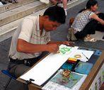 Strassenmaler in Florenz 2