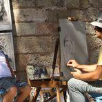 Straßenmaler in Rhodos-Stadt
