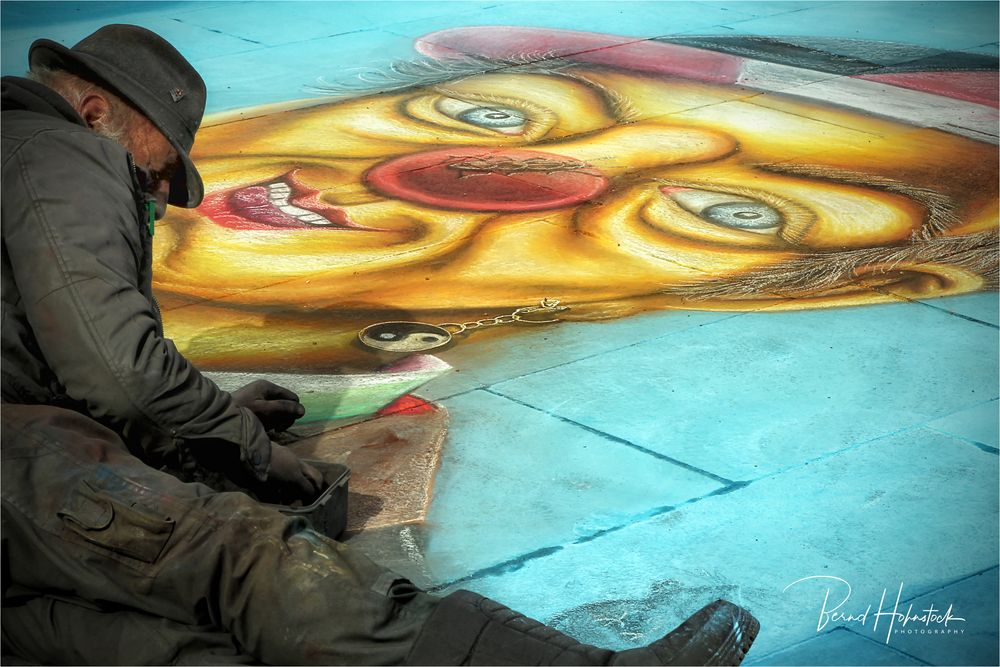 Straßenmalerei ...... auf der Platte